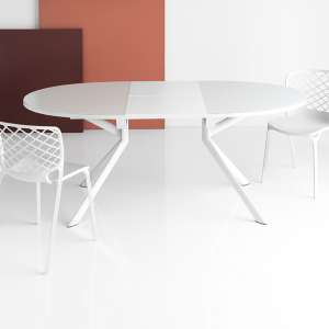 Table ovale extensible en verre - Giove Connubia®