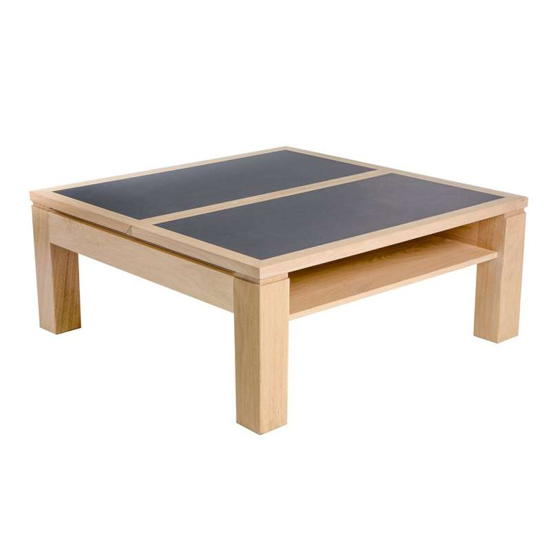 Table Basse Carree Bois Gris Maison Design