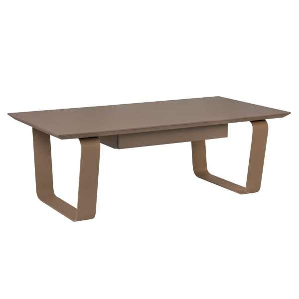 Table basse rectangulaire en c ramique et acier cobalt for Table 4 pieds