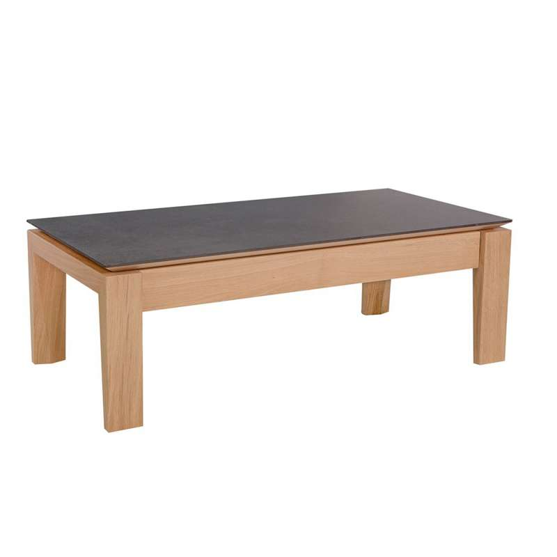 table basse contemporaine rectangulaire en bois et cramique avec tiroir bakou 1 - Table Contemporaine