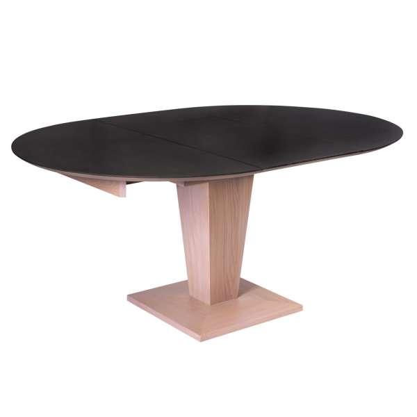 table ronde moderne extensible en c ramique et bois philae 4 pieds tables chaises et. Black Bedroom Furniture Sets. Home Design Ideas