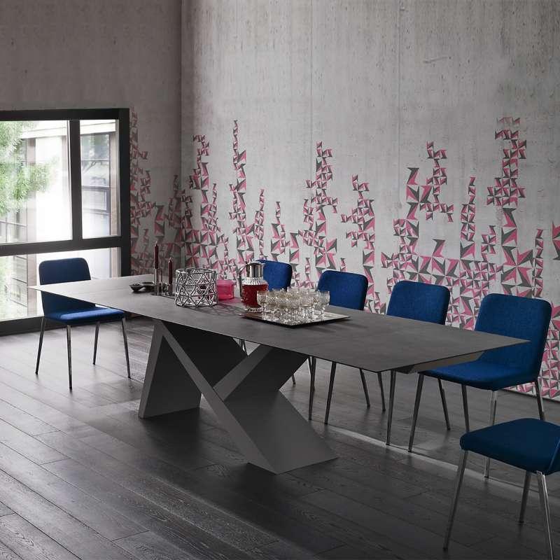 table design extensible en c ramique et bois laqu ikarus big 4. Black Bedroom Furniture Sets. Home Design Ideas