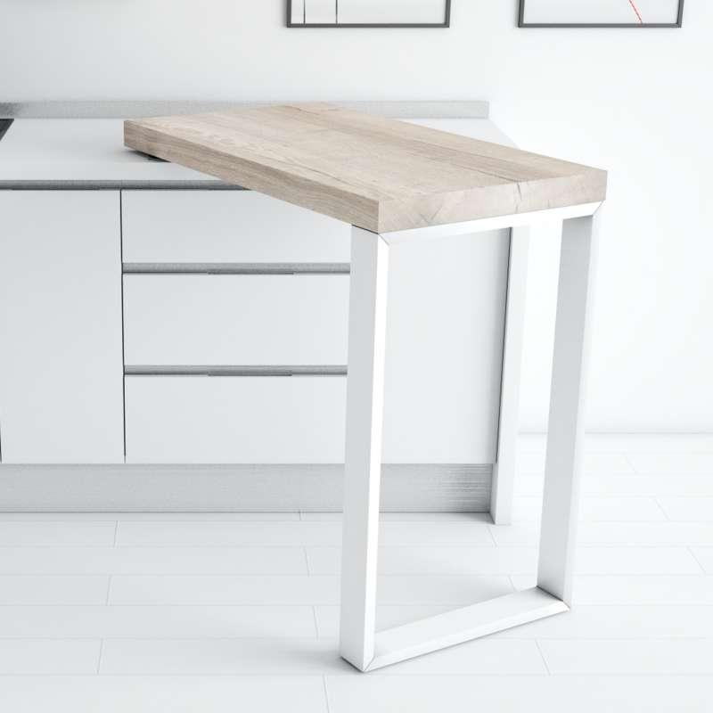 table snack pivotante en stratifié et métal - 90° - 4 pieds
