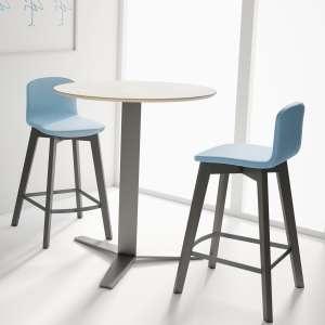 Table snack ronde moderne en verre - Peliccan