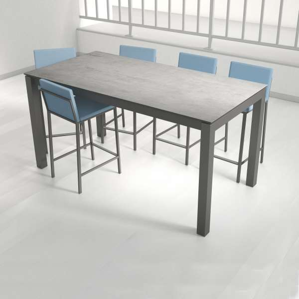 table snack rectangulaire en c ramique et m tal coma bar 4. Black Bedroom Furniture Sets. Home Design Ideas
