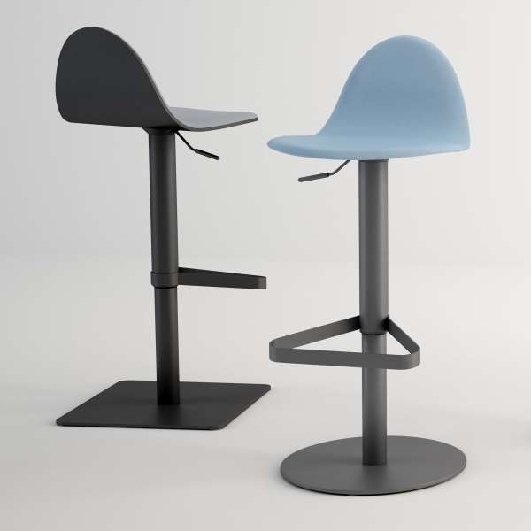 tabouret r glable design en synth tique et m tal tabu. Black Bedroom Furniture Sets. Home Design Ideas