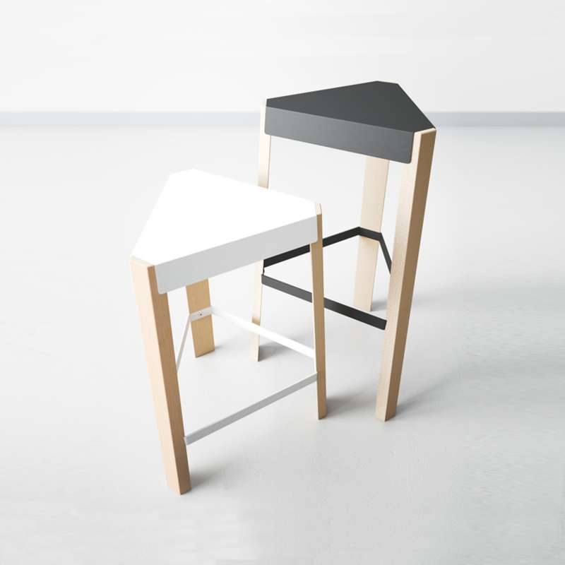 tabouret snack design sans dossier en m tal et bois. Black Bedroom Furniture Sets. Home Design Ideas