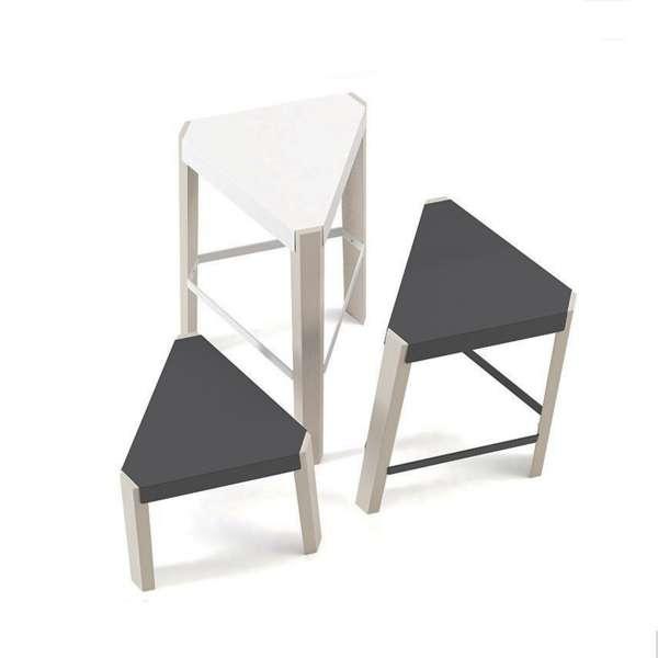 tabouret snack design sans dossier en m tal et bois podio 4. Black Bedroom Furniture Sets. Home Design Ideas