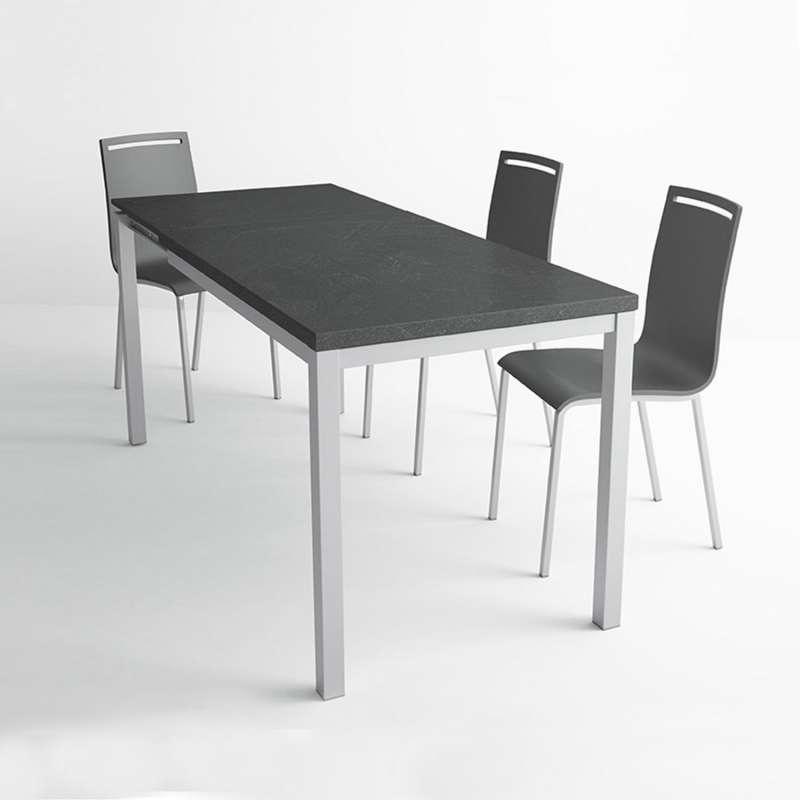 table de cuisine en céramique avec rallonge - hauteur 75 cm - toy
