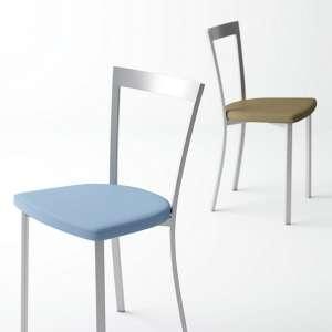 Chaise de cuisine moderne en synthétique et métal - Spirit