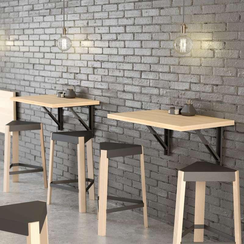 top table murale rabattable duappoint en stratifi vulcano with fabriquer table murale pliante. Black Bedroom Furniture Sets. Home Design Ideas