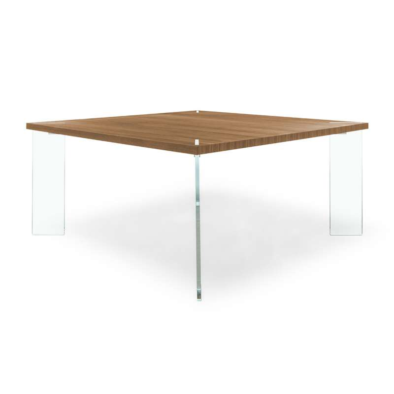 Table carr e design en m lamin et verre concrete 4 for Table italienne en verre