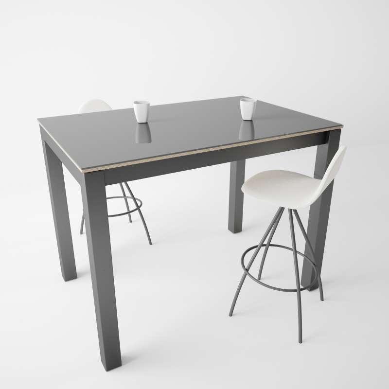table snack moderne en verre et m tal coma bar 4. Black Bedroom Furniture Sets. Home Design Ideas