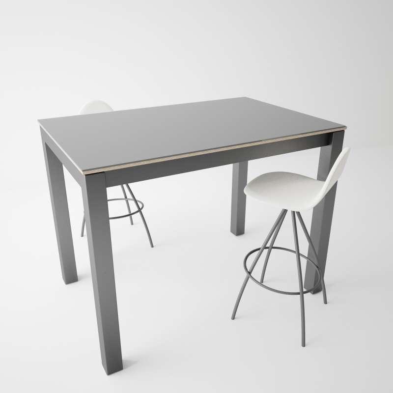 table snack moderne extensible en verre et m tal coma bar 4. Black Bedroom Furniture Sets. Home Design Ideas