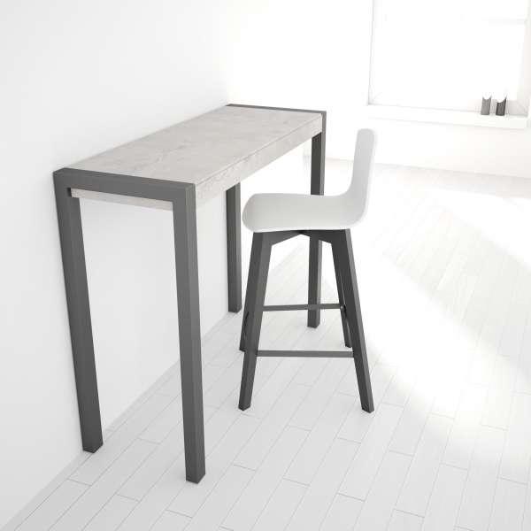 Table snack fixe rectangulaire en c ramique et m tal for Table en ceramique rectangulaire