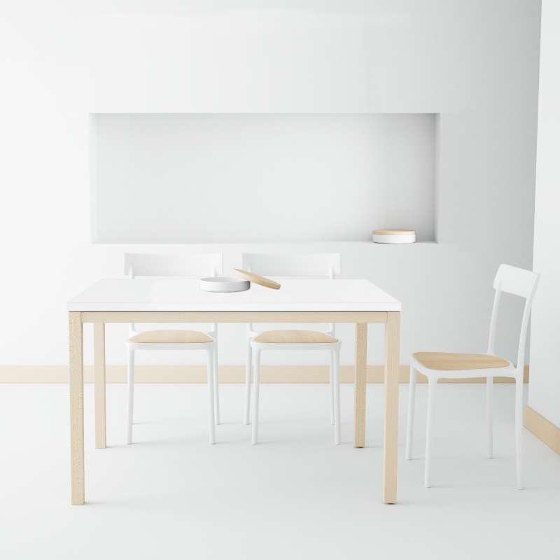 table de cuisine en c ramique avec rallonge toy bois 4 pieds tables chaises et tabourets. Black Bedroom Furniture Sets. Home Design Ideas
