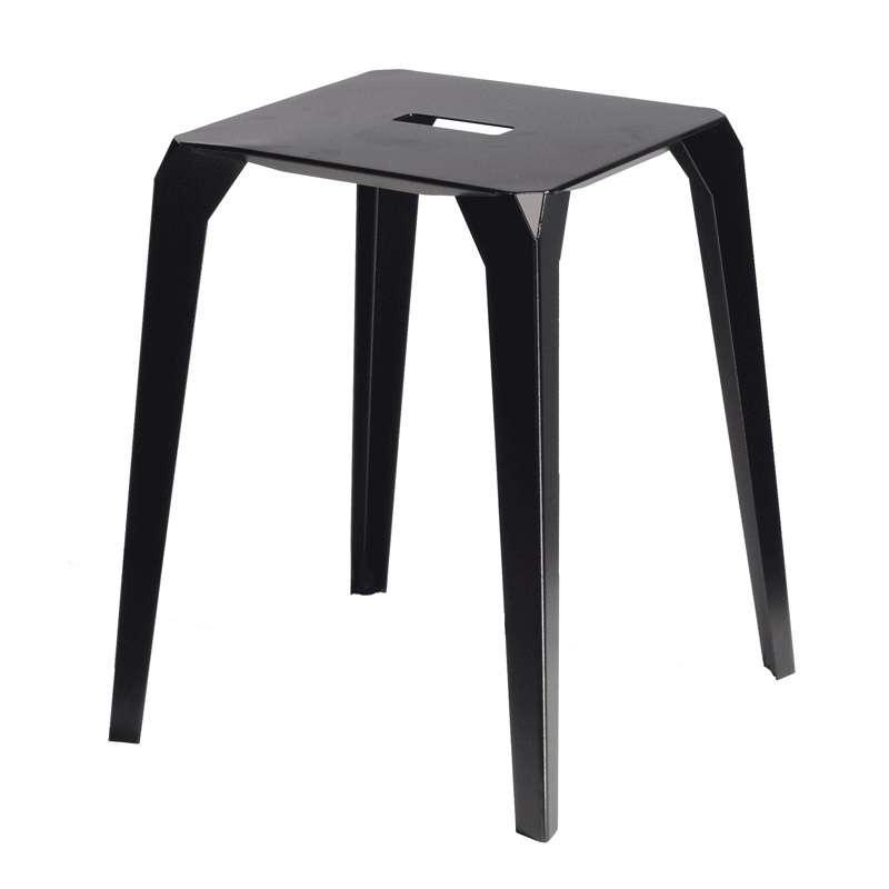 tabouret bas industriel en m tal valence 4. Black Bedroom Furniture Sets. Home Design Ideas