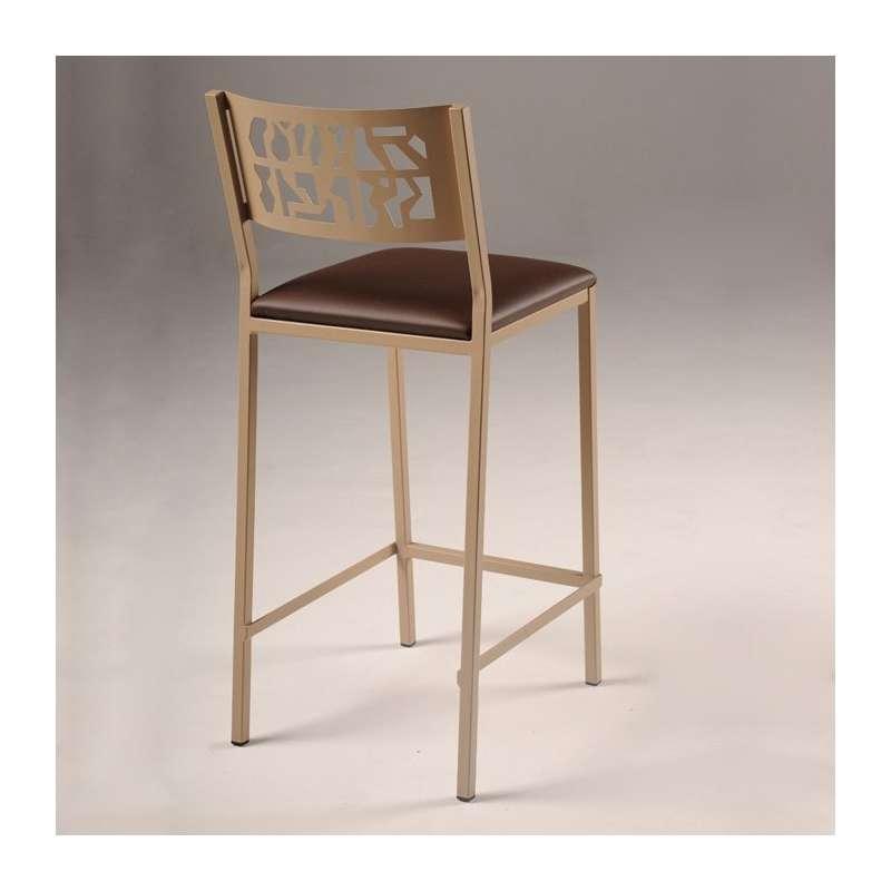 tabouret moderne snack en synth tique et m tal slide 4 pieds tables chaises et tabourets. Black Bedroom Furniture Sets. Home Design Ideas