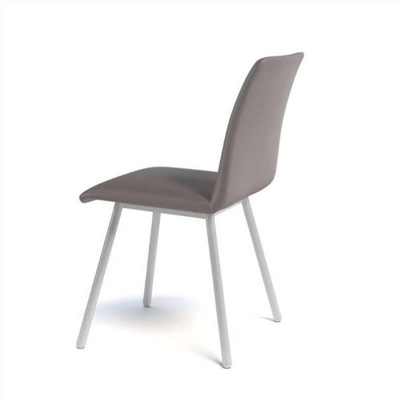 Chaise de salle manger moderne en m tal et synth tique for Chaise salle a manger metal