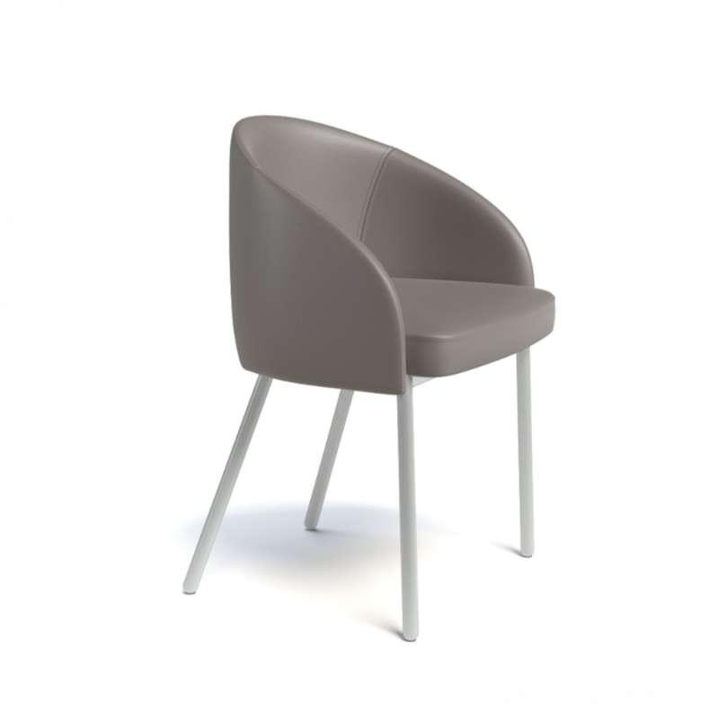 Fauteuil moderne en synth tique et m tal rialto 4 pieds tables chaises et tabourets - Moderne fauteuil ...
