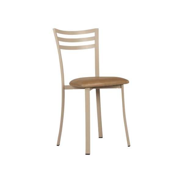 chaise contemporaine en m tal et synth tique fabrication fran aise urane 4 pieds tables. Black Bedroom Furniture Sets. Home Design Ideas