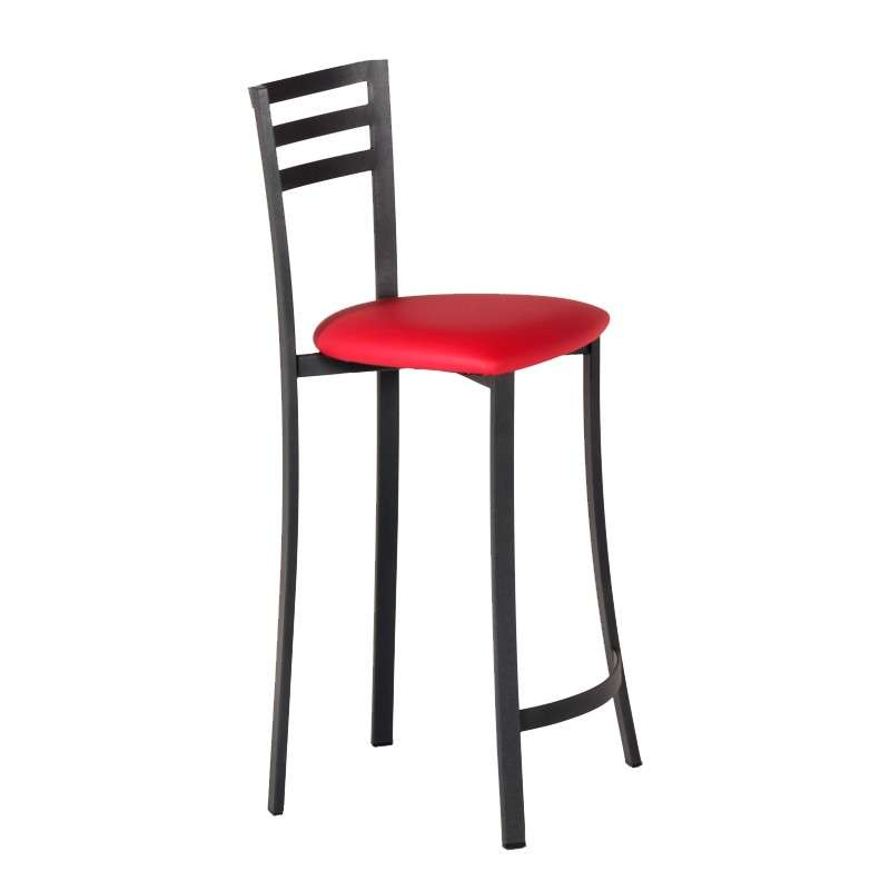 tabouret de bar en m tal assise synth tique fabrication fran aise urane 4 pieds tables. Black Bedroom Furniture Sets. Home Design Ideas