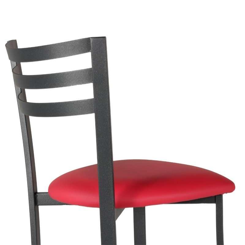 tabouret de bar en m tal assise synth tique urane 4 pieds tables chaises et tabourets. Black Bedroom Furniture Sets. Home Design Ideas