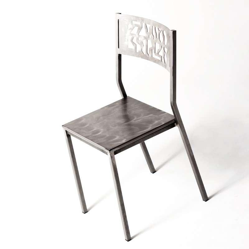 chaise industrielle en m tal slide 4. Black Bedroom Furniture Sets. Home Design Ideas