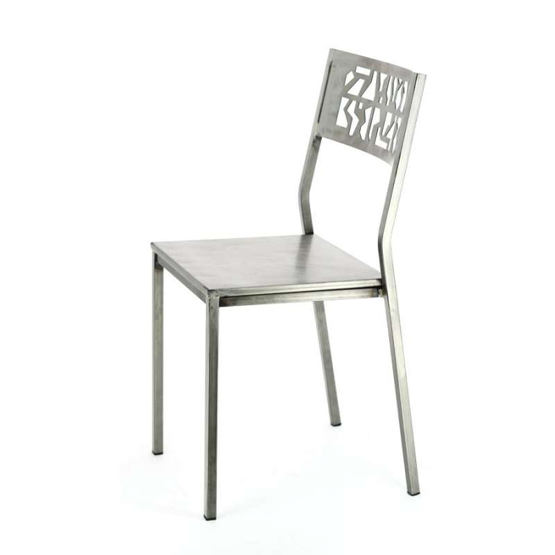 chaise industrielle en m tal slide 4 pieds tables. Black Bedroom Furniture Sets. Home Design Ideas