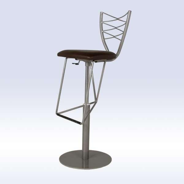 tabouret hauteur r glable en synth tique et m tal romance 4 pieds tables chaises et tabourets. Black Bedroom Furniture Sets. Home Design Ideas