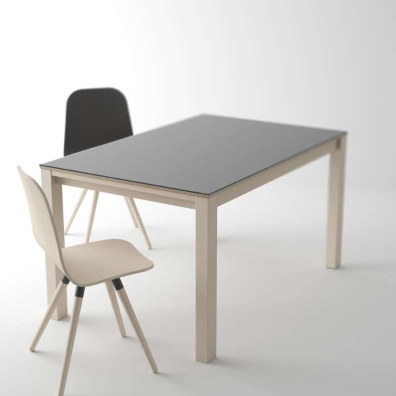 table moderne en verre extensible - quadra - 4 pieds : tables