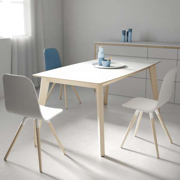 table moderne extensible en verre forme rectangle elliptique eclipse 4. Black Bedroom Furniture Sets. Home Design Ideas