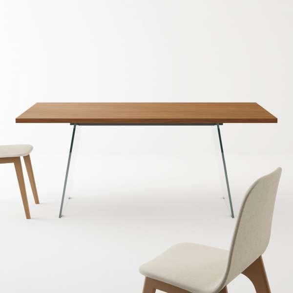 Table design en mélaminé - forme rectangulaire - Domo