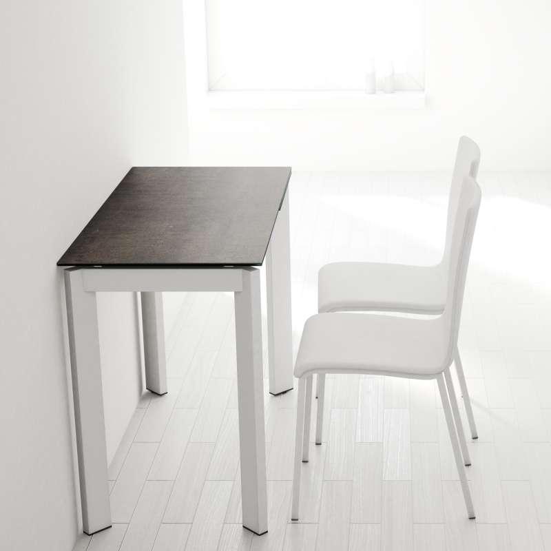 table petit espace extensible en c ramique poker 4. Black Bedroom Furniture Sets. Home Design Ideas
