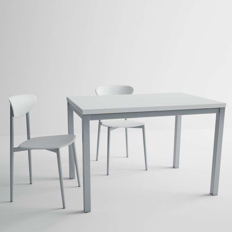 table de cuisine en verre avec rallonge hauteur 75 cm toy m tal 4. Black Bedroom Furniture Sets. Home Design Ideas