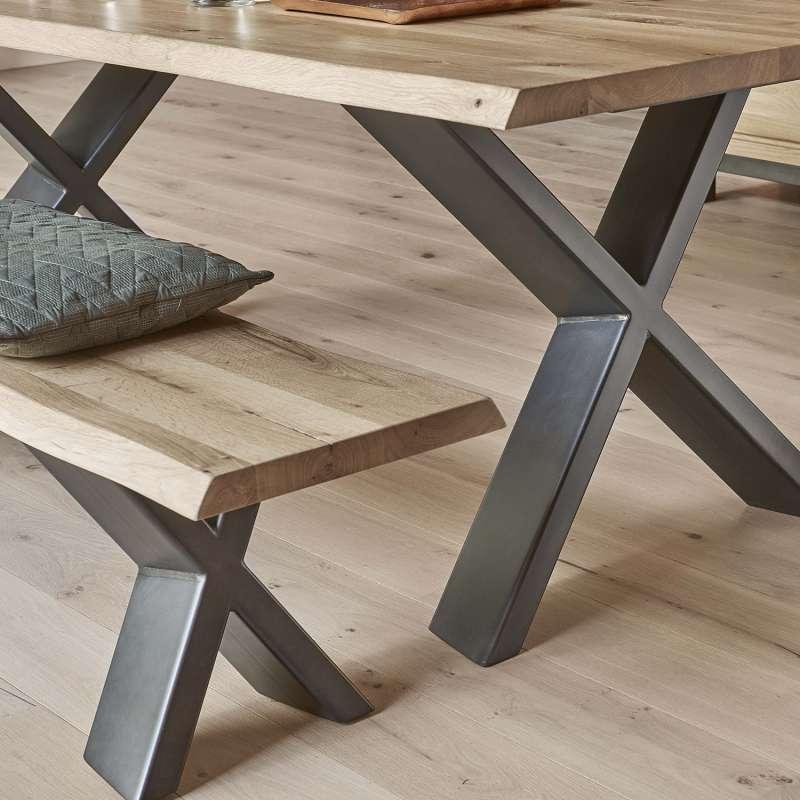 banc moderne en ch ne massif et m tal forest 4 pieds tables chaises et tabourets. Black Bedroom Furniture Sets. Home Design Ideas