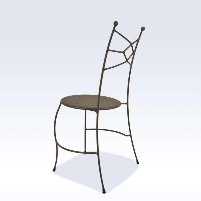 Chaise De Jardin En Métal - Seringua | 4 Pieds : Tables, Chaises