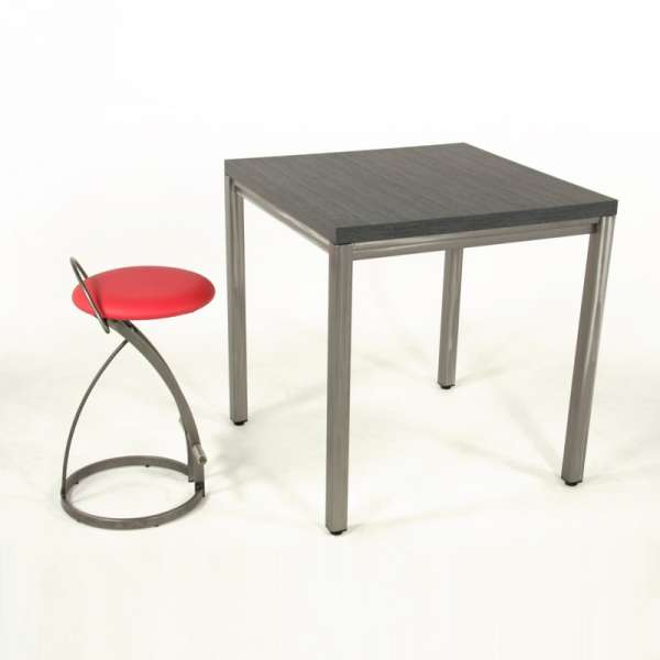 table snack carr e style industriel fabrication europ enne. Black Bedroom Furniture Sets. Home Design Ideas
