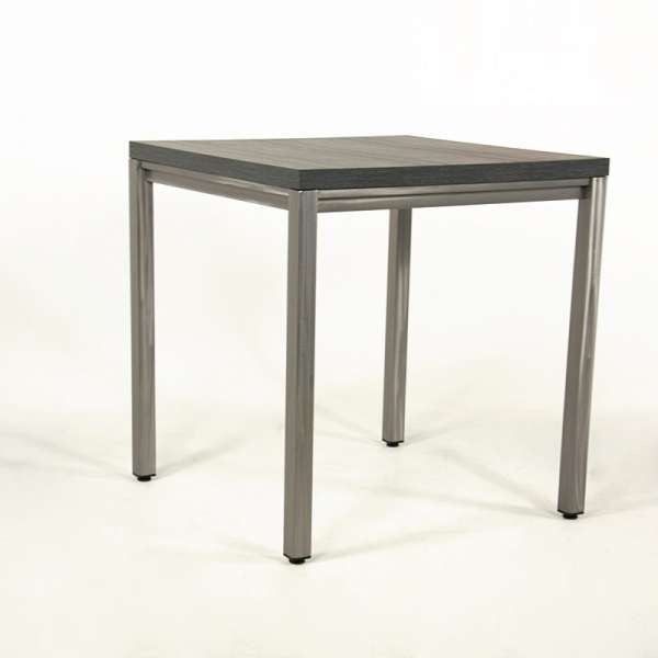 Table snack carr e style industriel fabrication europ enne for Table carree style industriel
