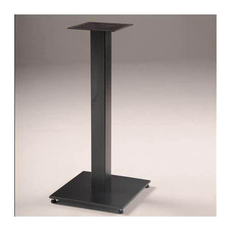 pied de table central en m tal base carr e square 400 4. Black Bedroom Furniture Sets. Home Design Ideas