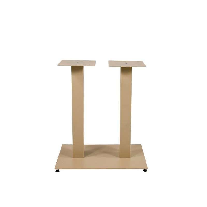 Pied de table central en m tal base rectangulaire square for Table rectangulaire pied central