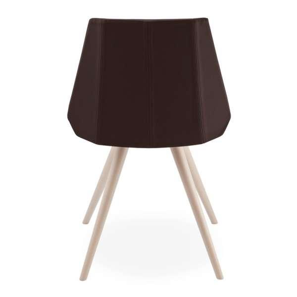 Chaise design en synth tique et bois glim 1161 4 pieds for Chaise italienne design