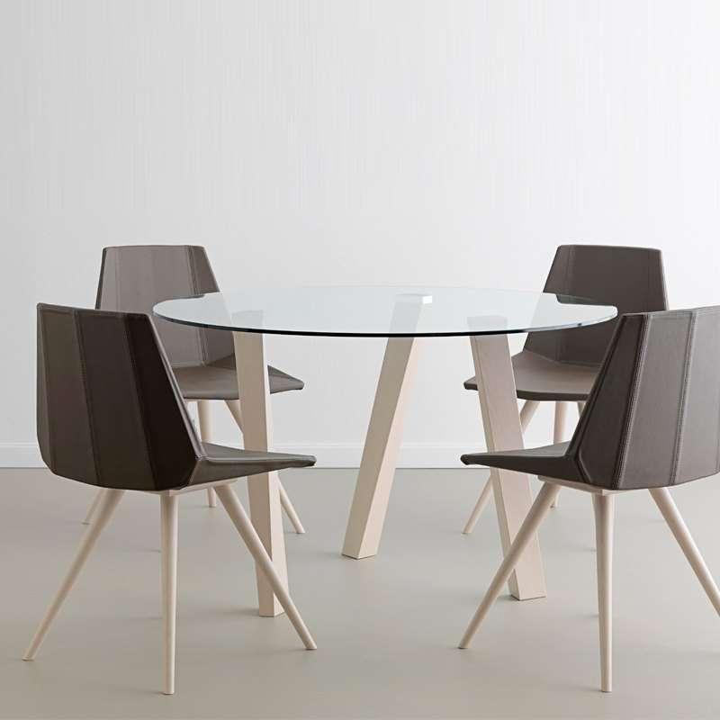 chaise design en synth tique et bois glim 1161 4. Black Bedroom Furniture Sets. Home Design Ideas