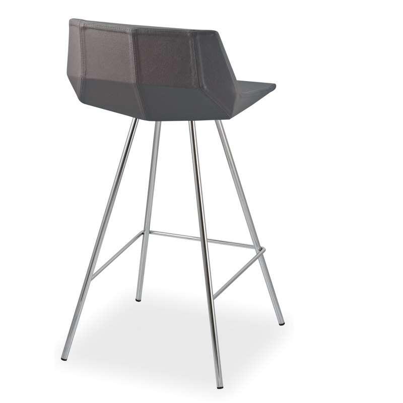tabouret de bar design en synth tique et m tal glim sg75 4 pieds tables chaises et tabourets. Black Bedroom Furniture Sets. Home Design Ideas