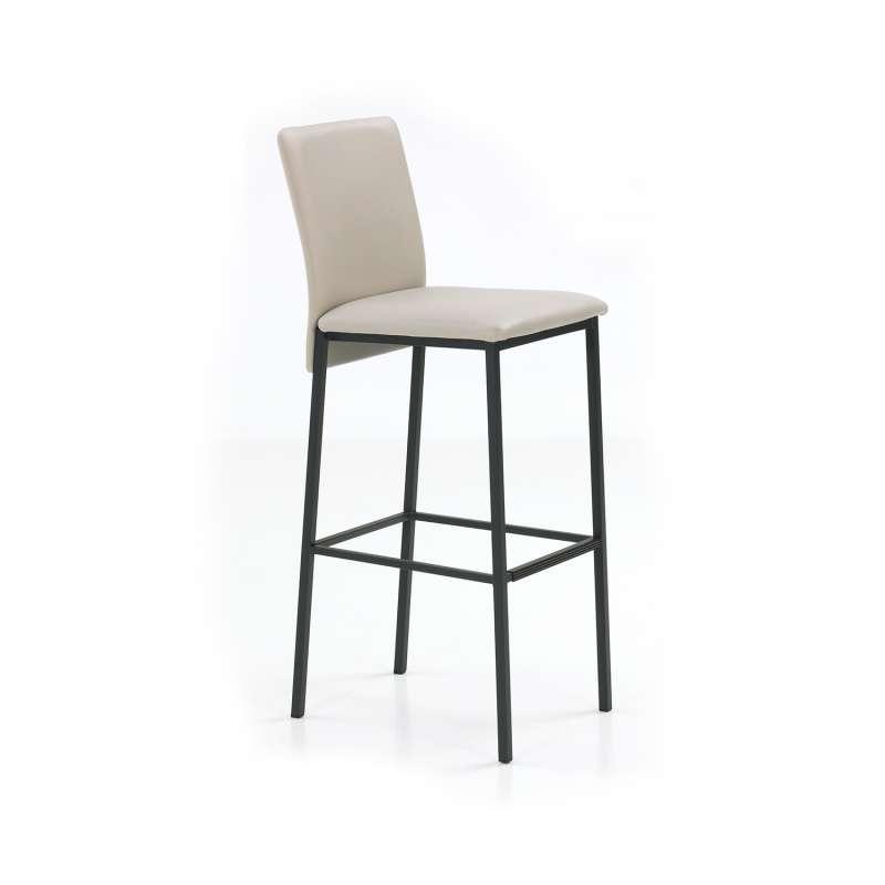 tabouret de bar contemporain en synth tique et m tal city 4 pieds tables chaises et tabourets. Black Bedroom Furniture Sets. Home Design Ideas