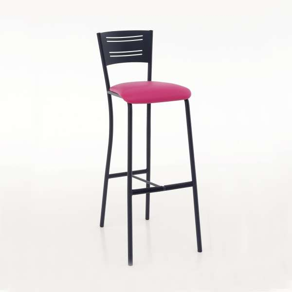 tabouret de bar contemporain en synth tique et m tal hera 4. Black Bedroom Furniture Sets. Home Design Ideas
