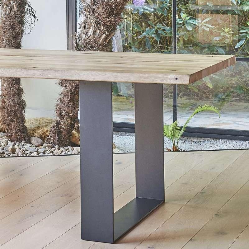 Table de s jour esprit industriel extensible en ch ne for Table de sejour moderne