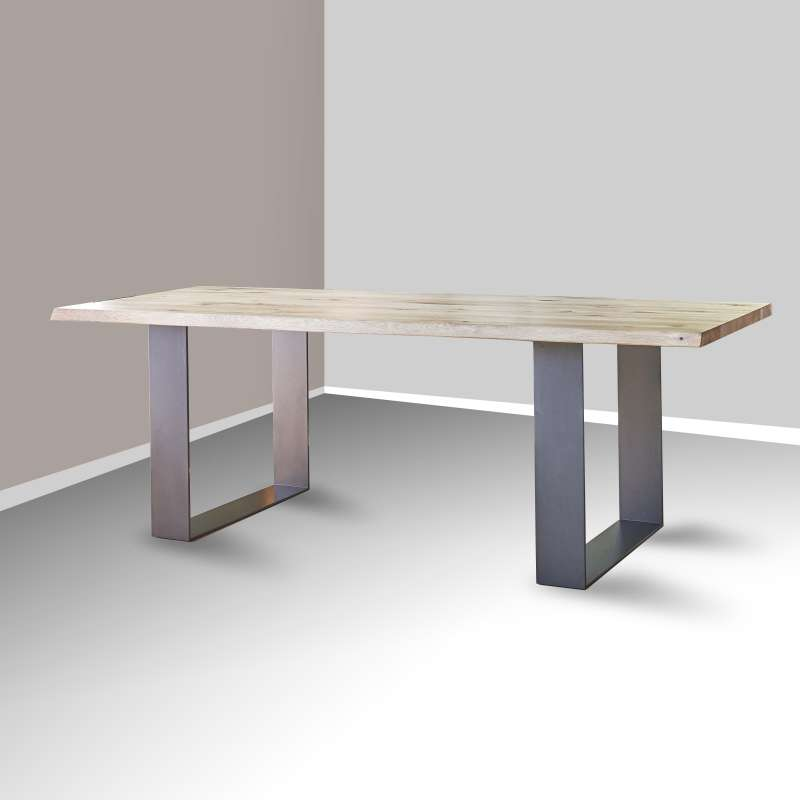 Table de s jour esprit industriel extensible en ch ne for Table sejour industriel