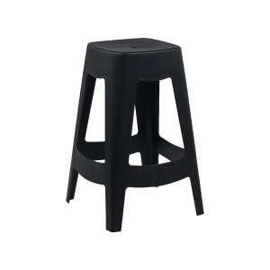 Tabouret snack moderne en polypropylène noir - Square stool