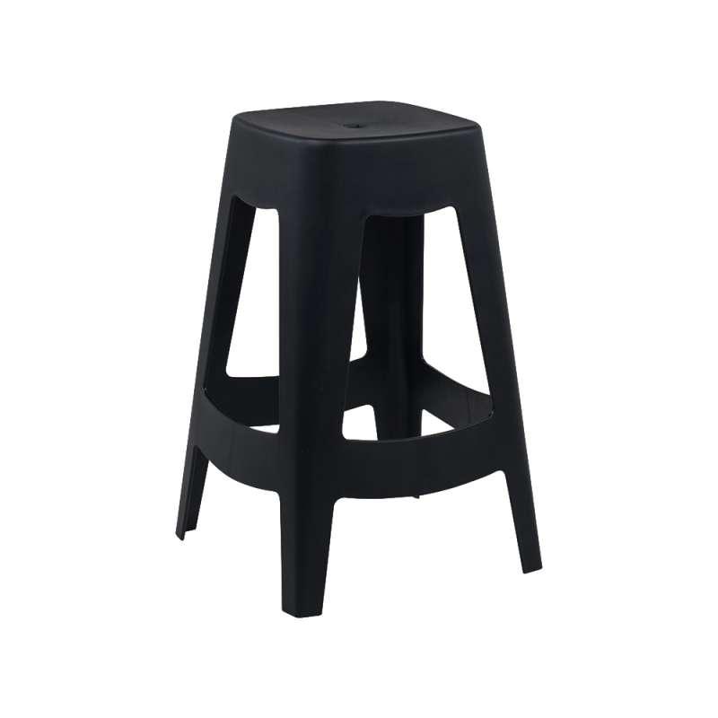 tabouret snack moderne en polypropyl ne square stool 4 pieds tables chaises et tabourets. Black Bedroom Furniture Sets. Home Design Ideas